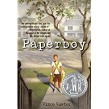 Paperboy by Vince Vawter Newbery Award Honor Book~ Great Books, New Books, Books To Read, Newbery Award, Newbery Medal, Middle School Books, Interview, Award Winning Books, Thing 1