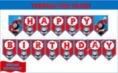 THOMAS The Train Birthday Banner Thomas the by CutePartyFairy