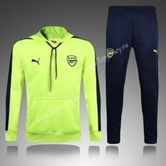 2016-17 Arsenal Fluorescent Green Thailand Soccer Tracksuit