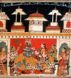 Bhairava Raga. Ragamala, Pigment on paper, India, Madhya Pradesh, ca. 1650, Bharat Kala Bhavan, Varanasi, Uttar Pradesh