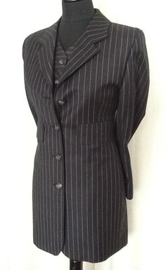striped fabric give tall impression.
