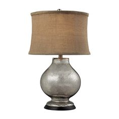 Dimond Lighting D2239 Antler Hill One Light Table Lamp in Antique Mercury Glass