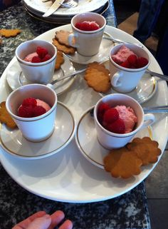 Great idea for serving dessert from Mary's 60th bday party