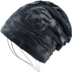 f949ab860 AKIZON Beanie Hat For Men And Women Skull Cap Fall Winter Warm Fashion Knit  Caps #