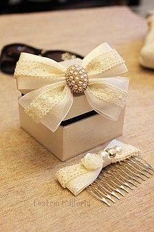 / 61 Huansha nuevo shell el matrimonio joyas hechas a mano del arco / accesorios para el cabello Headwear el sector de la decoración horquilla / contrato