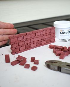 Build scale chimneys and more with these miniature red bricks. They're made with a high-strength cement mixed with pigment to create nearly indestructible bricks. As always, each one is handmade in the USA. Red Brick Walls, Wood Crates, Red Bricks, Scale Model, Miniatures, Chocolate, Creative, Projects, Handmade
