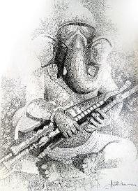 Shiva Hindu, Shri Ganesh, Shiva Art, Ganesha Art, Krishna Art, Ancient Indian Art, Indian Folk Art, Ganesha Painting, Indian Art Paintings