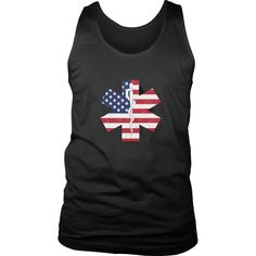 Limited Edition T-shirt & Tank Top- EMT Flag Star of Life