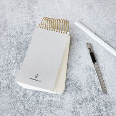 Record your thoughts and creative ideas in this beautiful spiral notebook from House Doctor's Monograph series for the office. The notebook is spiral House Doctor, Friend Wedding, Messing, Metallica, Unique Gifts, Stationery, Notebook, Things To Come, Writing