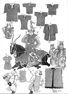 Chinese, Mongol and Manchu ringmail and chainmail armor Types Of Armor, Chinese Armor, Arm Armor, Armor Concept, Medieval Armor, Figure Painting, Traditional Art, Designs To Draw, Character Design