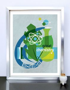 Science Poster Art Print Science Illustration Poster - Great Chemistry - 11x14 - Stellar Science Series