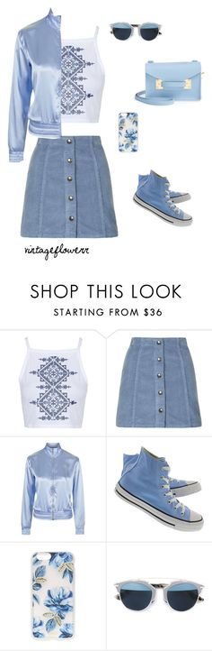 """""""29"""" by vintageflowerr ❤ liked on Polyvore featuring Topshop, Converse, Sonix, Christian Dior, Sophie Hulme and vintage"""