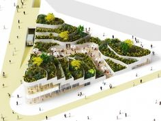 Love topo buildings, but the scale of this one is a bit undersized...Sanya Lake Park Super Market Proposal / NL Architects