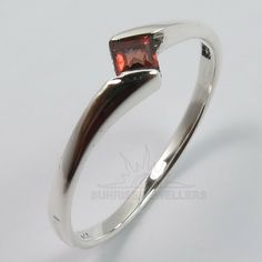 FINE Real GARNET Gemstone 925 Sterling Silver Stylish Ring Choose Any Size #SUNRISEJEWELLERS #Stackable #Rings Garnet Stone, Garnet Rings, Sterling Silver Cufflinks, Sterling Silver Jewelry, Tiny Rings, Silver Jewellery Indian, Stylish Rings, Amethyst Gemstone, Silver Necklaces
