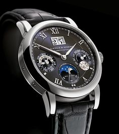 A. Lange and Sohne Langematik Perpetual Black Dial | Time and Watches