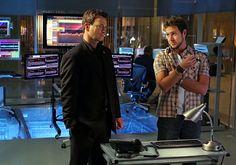 "CSI: NY - Season 4 - ""DOA For A Day"" - Gary Sinise as Mac and AJ Buckley as Adam Ross"