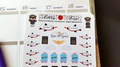 Traveling, Airplane, Passport, Luggage, Fits Erin Condren, Planner Stickers, Kiss Cut, Calendar Stickers, Life Planner Stickers by LillyTop on Etsy