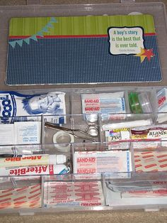 a great list of what to include in the family first aid box