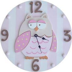 Adorable owl clock for the nursery