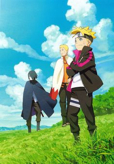 Is there a better photo of these three? Want to get a print framed in my room with naruto sasuke boruto soon! Naruto Shippuden, Naruto And Sasuke, Sasunaru, Anime Naruto, Manga Anime, Kakashi, Boruto And Sarada, Naruto Team 7, Naruto Family