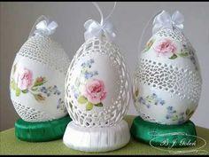 ażurowe pisanki różyczki   egg art carved and roses   Bogusława Justyna ...