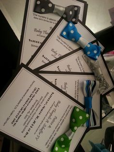 @Bobbi Sheridan Bratcher we could even make the bow ties and use these as invitations?