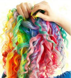 Melanie Dawn Harter's rainbow hair: http://www.flickr.com/photos/wisely-chosen/