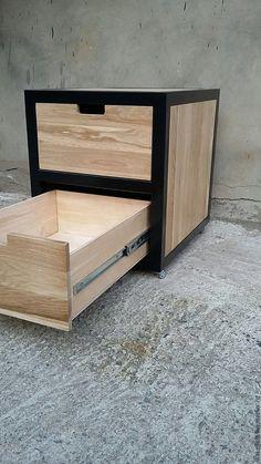 Wooden Pallet Furniture, Steel Furniture, Rustic Furniture, Diy Furniture, Furniture Design, Minimalist Room Design, Steel Bed Design, Diy Daybed, Multifunctional Furniture