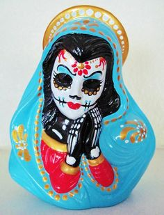 Day of the Dead VIRGIN MARY Statue Madonna by illustratedink, $38.00