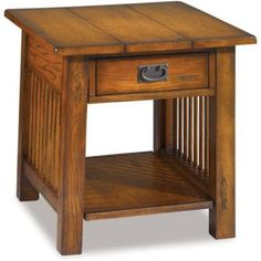 Canyon mission style end table matches the coffee table.