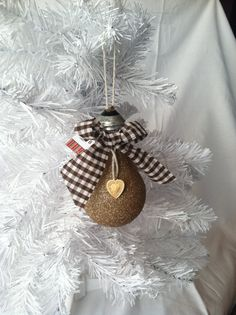 Handmade Christmas Ornaments Lightbulb by Creativebaggage on Etsy, $7.95