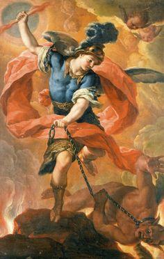 Acislo Antonio Palomino de Castro y Velasco, Saint Michael the Archangel Vanquishing the Devil, c. 1690s