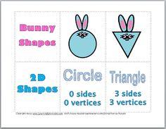 Classroom Freebies: Bunny 2D Shapes Freebie