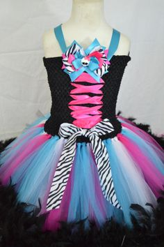 New Monster High TuTu Dress by TutuSweetBoutiqueINC on Etsy, $40.00