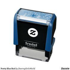 Pretty Blue Bird Self-inking Stamp