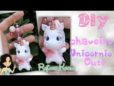 Unicorn Birthday, Unicorn Party, Cold Porcelain Tutorial, Polymer Clay Charms, Air Dry Clay, Kawaii, Clay Tutorials, Simple Art, Paper Clip