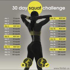 Beginner 30-Day Squat Plan - Fit & Fab