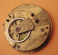 antique English pocket watch movement Josh by StratusJewelrySupply, $54.99