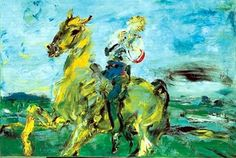 Jack B. Yeats, 'The Singing Horseman', Photo © National Gallery of Ireland. © Estate of Jack B. All rights reserved, DACS Irish Painters, Jack B, Irish Culture, Irish Art, Art For Art Sake, Equine Art, Art Studies, Art Google, Figurative Art