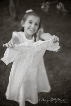 Eight years and two white dresses! One more to go...  #LDS Baptism