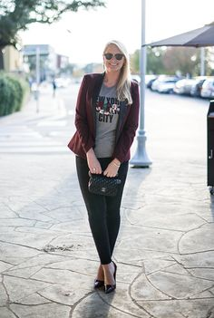 Always envious of the classically chic style of @Matt Valk Chuah Style Scribe . Peek at how she  dresses up our New York Censored Tee on her blog The Style Scribe.