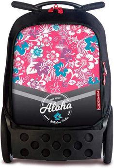 School rucksack with wheels nikidom xl aloha flowers Mochila Trolley, Zipper Flowers, Get Ready, Unisex, School Bags, Flower Patterns, Fashion Backpack, Under Armour, Lunch Box