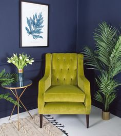 Soft touch velvet in a deliciously vibrant green, enhances the deep button back of this winged back armchair and gives a twist of modernity to a classic that is sure to become a favourite for curling up in with a good book or for catching up with your favourite boxed set.