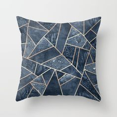 Soft Dark Blue Stone Throw Pillow by Elisabeth Fredriksson. Worldwide shipping available at Society6.com. Just one of millions of high quality products available.