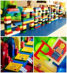 Festa decorada tema Lego party de menino