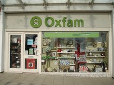 Oxfam Op Shop, Kenilworth, England - notice the lovely window display