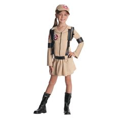 Kid's Ghostbusters Costume for Girls - Large