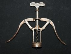 """1885 Antique Corkscrew James Heeley & Sons Copper finish """"A1"""" Double Lever with Bladed Worm"""