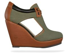 G-Star Raw Romero Lucille Tie Womens Wedges   Shoes – Green   Tan 9b18cac72
