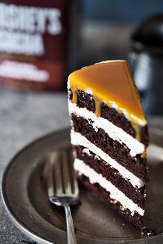 Chocolate Cake with Caramel Drizzle @realfoodbydad